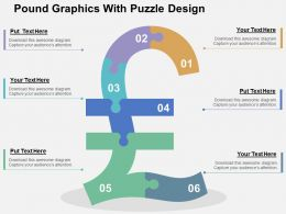 Pound Graphics With Puzzle Design Flat Powerpoint Design