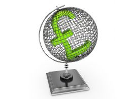 Pound Sign On Globe Stock Photo