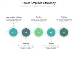 Power Amplifier Efficiency Ppt Powerpoint Presentation Icon Microsoft Cpb