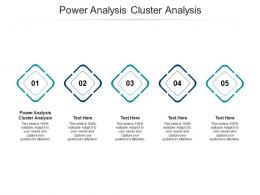 Power Analysis Cluster Analysis Ppt Powerpoint Presentation Gallery Demonstration Cpb