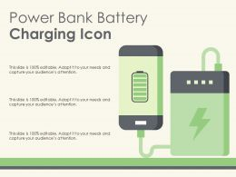 Power Bank Battery Charging Icon