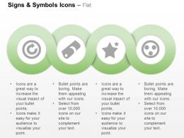 Power Button Star Tag Smiley Ppt Icons Graphics