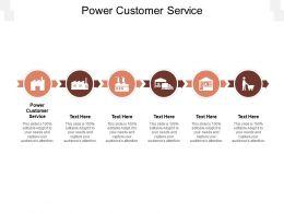 Power Customer Service Ppt Powerpoint Presentation Show Deck Cpb