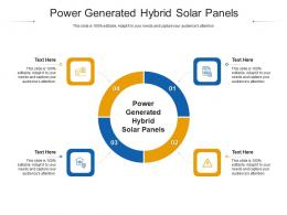 Power Generated Hybrid Solar Panels Ppt Powerpoint Presentation Icon Show Cpb