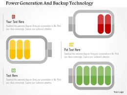Power Generation And Backup Technology Flat Powerpoint Design
