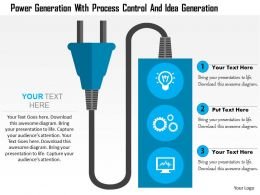 Power Generation With Process Control And Idea Generation Flat Powerpoint Design
