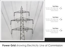 Power Grid Showing Electricity Line Of Commission