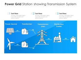 Power Grid Station Showing Transmission System