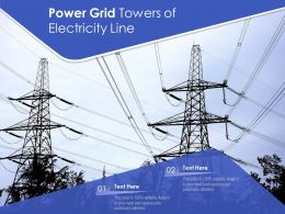 Power Grid Towers Of Electricity Line
