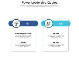 Power Leadership Quotes Ppt Powerpoint Presentation Portfolio Background Image Cpb