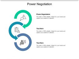 Power Negotiation Ppt Powerpoint Presentation Icon Good Cpb