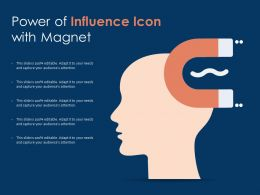 Power Of Influence Icon With Magnet