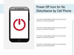 Power Off Icon For No Disturbance By Cell Phone