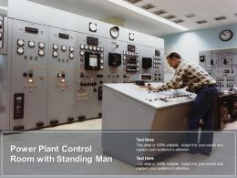 Power Plant Control Room With Standing Man