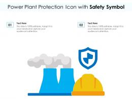 Power Plant Protection Icon With Safety Symbol