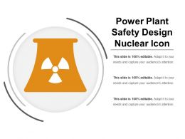 Power Plant Safety Design Nuclear Icon