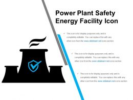 Power Plant Safety Energy Facility Icon