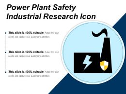 Power Plant Safety Industrial Research Icon