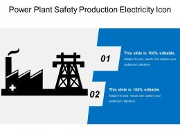 Power Plant Safety Production Electricity Icon