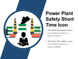 Power Plant Safety Short Time Icon