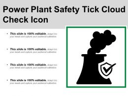 Power Plant Safety Tick Cloud Check Icon