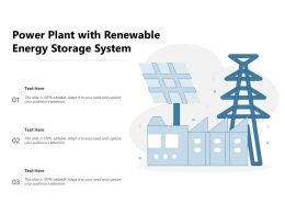Power Plant With Renewable Energy Storage System