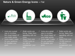 Power Plug Factory Eco Dustbin Symbol Ppt Icons Graphics