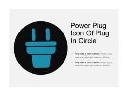 Power Plug Icon Of Plug In Circle