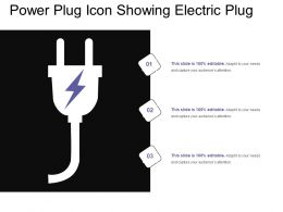 Power Plug Icon Showing Electric Plug