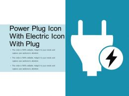 Power Plug Icon With Electric Icon With Plug