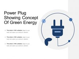 Power Plug Showing Concept Of Green Energy