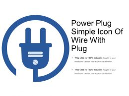 Power Plug Simple Icon Of Wire With Plug