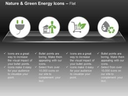 Power Plug Wind Mill Shopping Cart Power Production Ppt Icons Graphics
