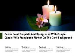 Power Point Template And Background With Couple Candle With Frangipane Flower On The Dark Background