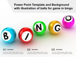 Power Point Template And Background With Illustration Of Balls For Game In Bingo