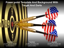 Power Point Template And Background With Target And Darts