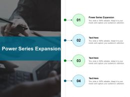 Power Series Expansion Ppt Powerpoint Presentation Portfolio Display Cpb