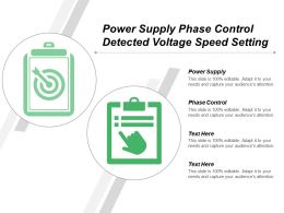 Power Supply Phase Control Detected Voltage Speed Setting
