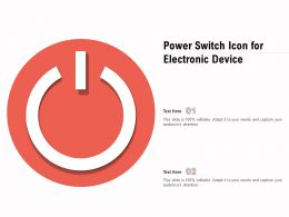 Power Switch Icon For Electronic Device