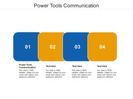 Power Tools Communication Ppt Powerpoint Presentation Inspiration Grid Cpb