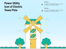 Power Utility Icon Of Electric Tower Pole
