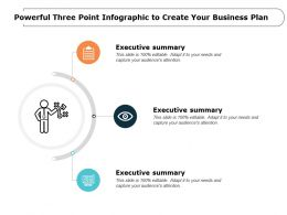 Powerful Three Point Infographic To Create Your Business Plan
