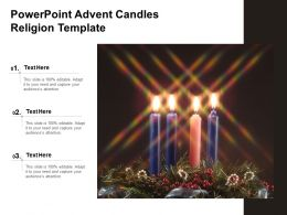 Powerpoint Advent Candles Religion Template