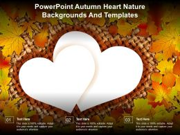 Powerpoint Autumn Heart Nature Backgrounds And Templates