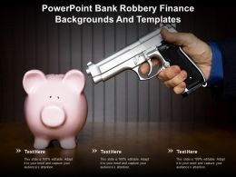 Powerpoint Bank Robbery Finance Backgrounds And Templates