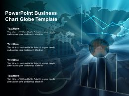 Powerpoint Business Chart Globe Template