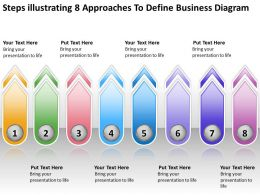 Powerpoint Business Illustrating 8 Approaches To Define Diagram Templates