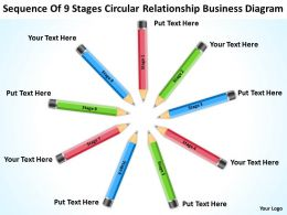 Powerpoint Business Of 9 Stages Circular Relationship Diagram Slides
