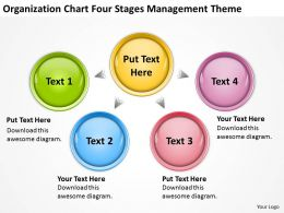 Powerpoint Business Organization Chart Four Stages Management Theme Slides 0522