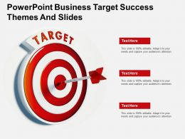 Powerpoint Business Target Success Themes And Slides